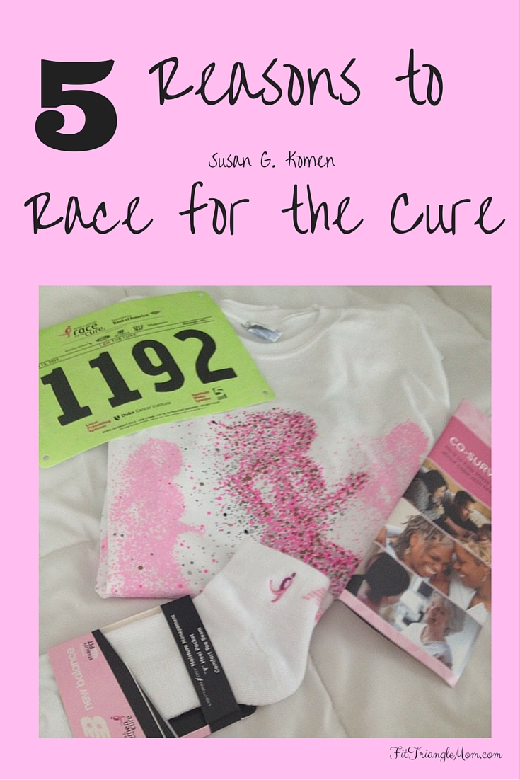 5 reasons to race for the cure against breast cancer.