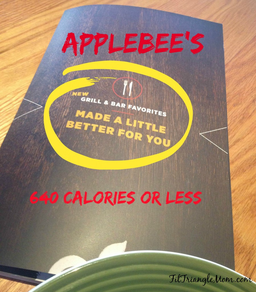 Applebee's Better for You Pub Diet offers an amazing selection of Salmon, Steak, Chicken and Shrimp. All entrees are 640 calories or less. Flavorful and Filling.
