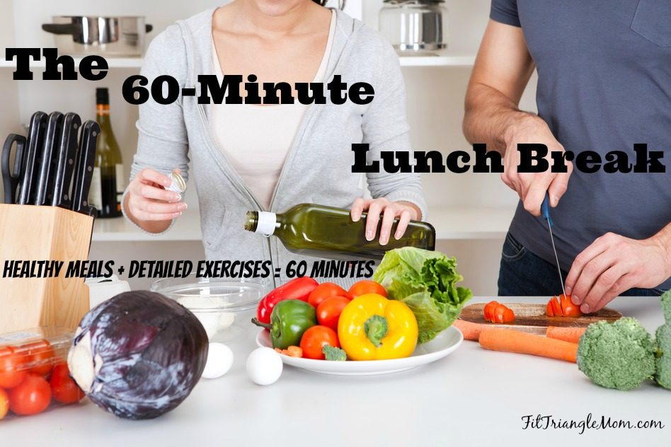 the 60 minute lunch break combines healthy meal plans with detailed exercises.