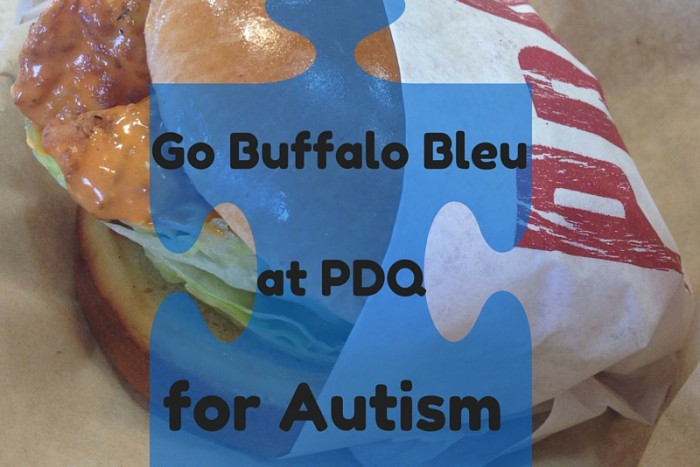 Go Buffalo Bleu at PDQ for Autism. A portion of the proceeds will support Autism Speaks