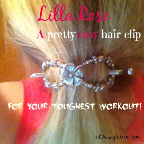 Lilla Rose flexi hair clip- pretty easy hair clip for your toughest workouts.