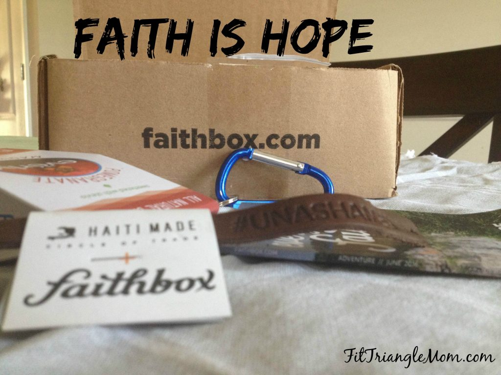 Faith is hope and receiving a Faithbox will encourage you in your faith. Mom. Inspiration