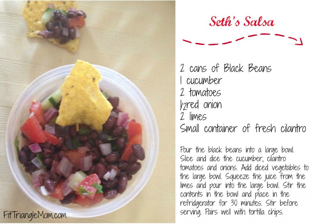 Go-to Receipe for Game Day. Seth's Salsa is healthy and tasty.