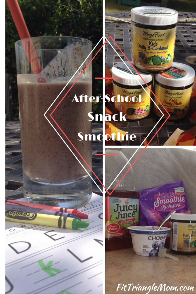 after school snack smoothie filled with vitamins and nutrients that promote focus and calm. recipe included.