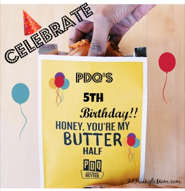 PDQ 's 5th birthday celebration with the Honey Butter Sandwich. 2016