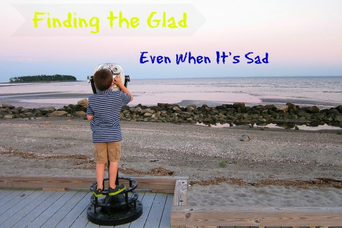 Finding glad even when you're sad helps not feel so worn down by the despair of the world