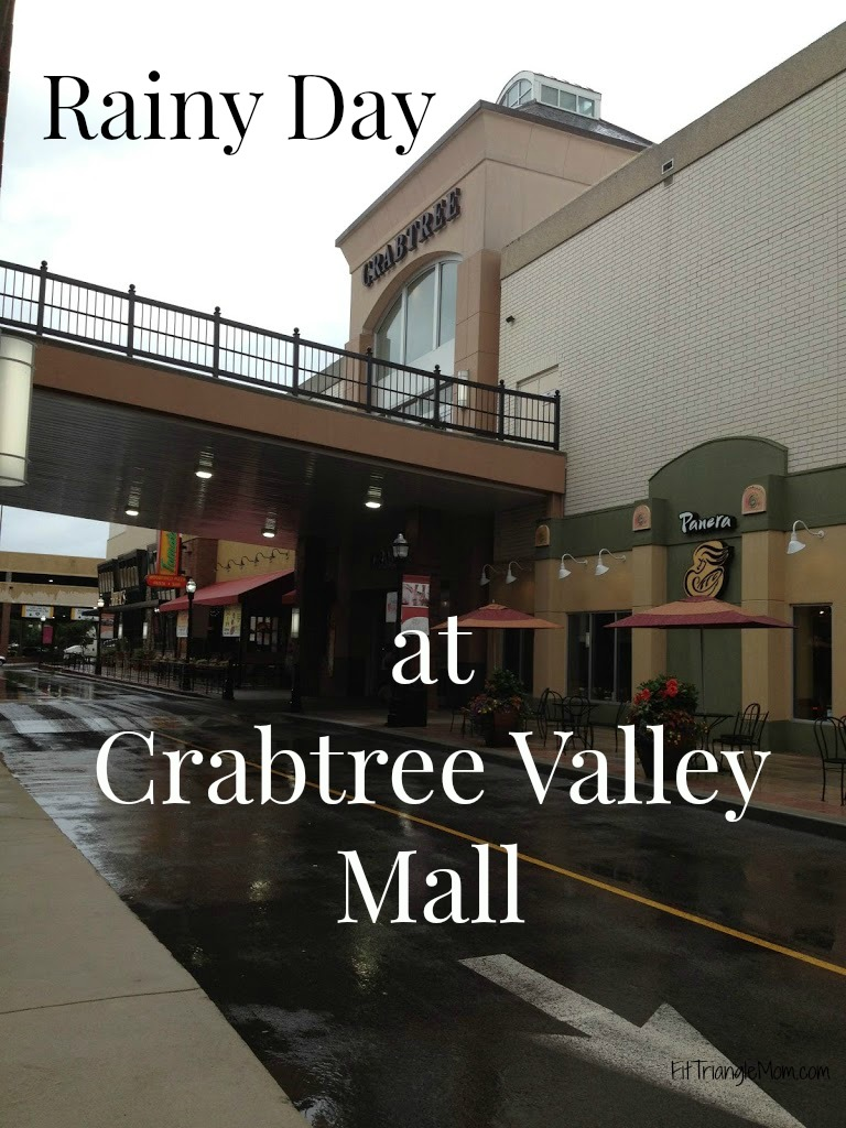 Rainy days can be dreary, or they can be fun at Crabtree Valley Mall in Raleigh