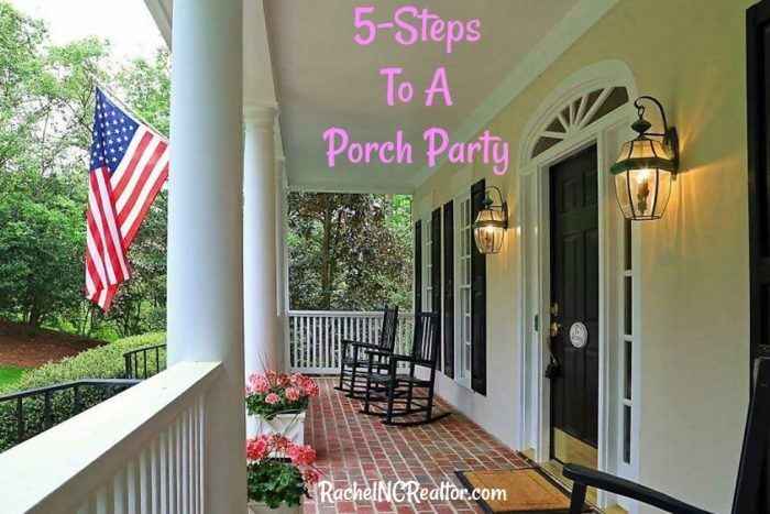 porch party, open house, raleigh