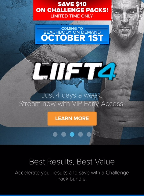 Lift 4 challenge fitness friday favorites