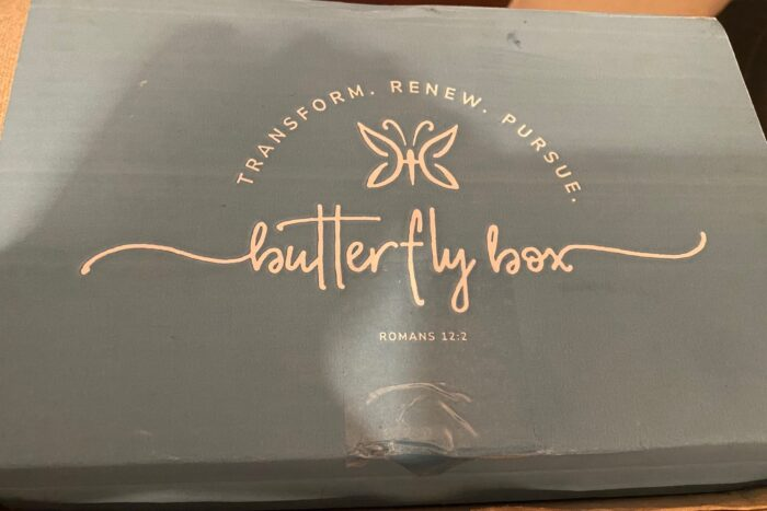 butterfly box, themed faith filled subscription box
