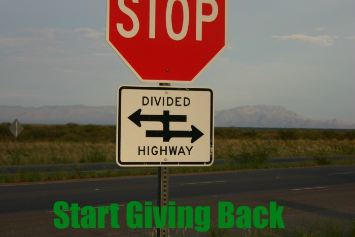 Stop Going and Start Giving Back to those in need. A New Year's resolution to pay it forward.