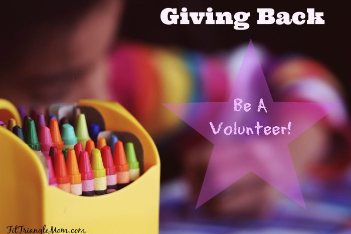 Giving back. Volunteer in your community, child's school or sports team.